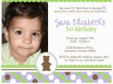 1st Birthday Invitation Message for Baby Boy 1st Birthday Invitation Quotes for Baby Girl Best Happy