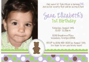 1st Birthday Invitation Message For Baby Boy Quotes Girl Best Happy