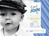 1st Birthday Invitation Message for Baby Boy 25 Off 1st Birthday Boys Photo Invitation Digital File
