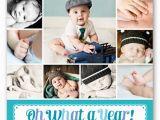 1st Birthday Invitation Message for Baby Boy What A Year Boy First Birthday Invitation Shutterfly