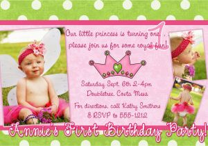 1st Birthday Invitation Message Samples First Birthday Party