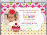 1st Birthday Invitation Message Samples Best Photos Of Cupcake Birthday Party Invitation Templates