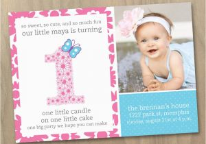 1st Birthday Invitation Message Samples First Wording Ideas Free Printable