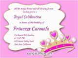 1st Birthday Invitation Message Samples Princess Birthday Invitation Wording Samples and Ideas