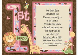 1st Birthday Invitation Sms First Wording And