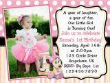1st Birthday Invitation Template Minnie Mouse 1st Birthday Invitations Template Best