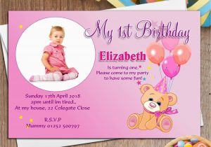 1st Birthday Invitation Templates Free Download 1st Birthday Invitation Card Template Free Download 2018