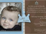 1st Birthday Invitation Wording for Baby Boy Baby Boy 1st Birthday Invitation Little Prince