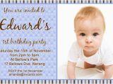 1st Birthday Invitation Wording for Baby Boy Birthday Invitations 365greetings Com