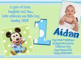 1st Birthday Invitation Wording for Baby Boy Free Printable Mickey Mouse 1st Birthday Invitations