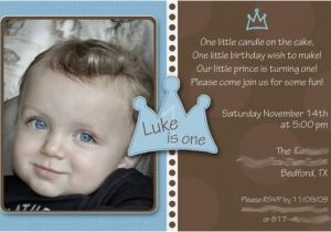1st Birthday Invitation Wording For Boys Baby Boy Little Prince