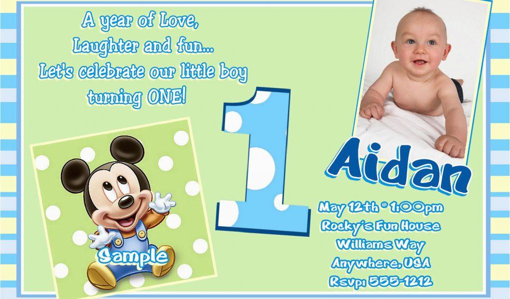 1st Birthday Invitations Boy Online Free Free Printable Mickey Mouse