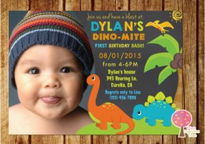 1st Birthday Invitations Boy Templates Free 15 Dinosaur Birthday Invitations Free Psd Vector Eps