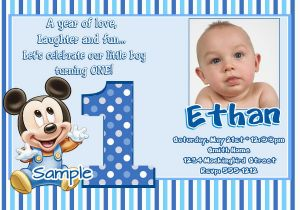 1st Birthday Invitations Boy Templates Free Free 1st Birthday Invitation Maker Invitation Sample