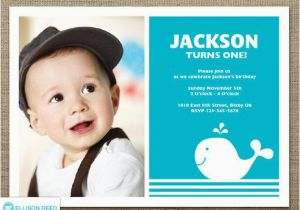 1st Birthday Invitations Boy Templates Free Whale Invitation 1st Birthday Invitation Nautical Boy