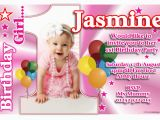 1st Birthday Invitations Girl Template Free 1st Birthday Invitations Girl Free Template Personalised