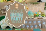 1st Birthday Jungle theme Decorations A Little Boy 39 S First Jungle Safari Birthday Party