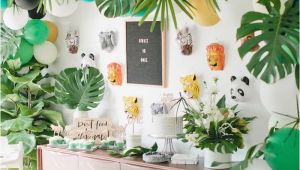 1st Birthday Jungle theme Decorations Kara 39 S Party Ideas Jungle 1st Birthday Party Kara 39 S
