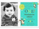 1st Birthday Monkey Invitations 1st Birthday Invitations Ideas for Boys Bagvania Free