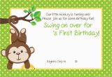 1st Birthday Monkey Invitations Free Printable 1st Monkey Birthday Invitation Free