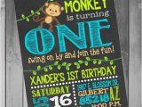 1st Birthday Monkey Invitations Monkey Birthday Invitation Monkey Birthday Party Monkey