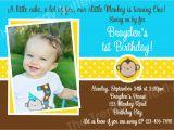 1st Birthday Monkey Invitations Printable Birthday Invitations Boys Mod Monkey 1st Party