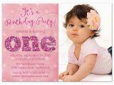 1st Birthday Party Invite Wording 1st Birthday and Baptism Invitations 1st Birthday and