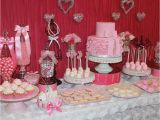 1st Birthday Party Table Decorations Sweetheart Birthday Quot Sweetheart themed 1st Birthday