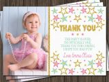 1st Birthday Photo Thank You Cards Twinkle Twinkle Little Star Thank You Card First