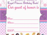 1st Birthday Princess Invitations Free Printables Free Printable Disney Princess Birthday Invitations