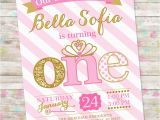 1st Birthday Princess Invitations Free Printables Princess Birthday Invitation 1st Birthday Party Invite Pink