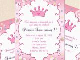 1st Birthday Princess Invitations Free Printables Princess Birthday Invitation Card butterfly Custom Girl