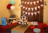 1st Birthday Table Decorating Ideas sock Monkey themed First Birthday Party Ideas