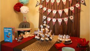 1st Birthday Table Decorating Ideas sock Monkey themed First Birthday Party Ideas