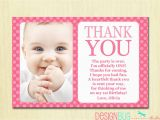 1st Birthday Thank You Card Messages First Birthday Matching Thank You Card 4×6 the Big One Diy