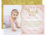 1st Birthday Thank You Card Messages Twinkle Twinkle Little Star Thank You Card Zazzle Com