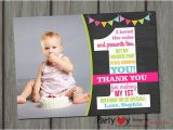 1st Birthday Thank You Photo Cards 21 Birthday Thank You Cards Free Printable Psd Eps