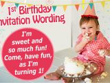 1st Year Baby Birthday Invitation Cards 16 Great Examples Of 1st Birthday Invitation Wordings