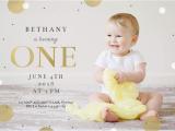 1st Year Baby Birthday Invitation Cards 1st Confetti Free Birthday Invitation Template