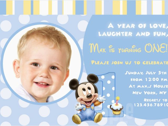 Download By SizeHandphone Tablet Desktop Original Size Back To 1st Year Baby Birthday Invitation Cards
