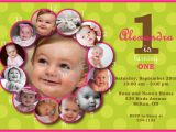 1st Year Baby Birthday Invitation Cards First Birthday Invitation Template Best Template Collection