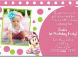 1st Year Baby Birthday Invitation Cards for Baby Birthday Invitation Card Design Pink Background