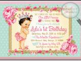1st Year Baby Birthday Invitation Cards Vintage Princess Baby 1st Birthday Invitations Di 693