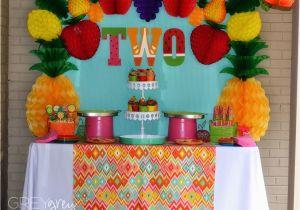 2 Year Old Birthday Decoration Ideas Party Idea Fruit Theme