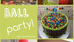 2 Year Old Birthday Party Decorations Ball themed Party for A 2 Year Old Teach Me Mommy