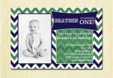 2 Year Old Boy Birthday Invitations Boy 39 S Chevron Birthday Party Invitation Baby 39 S by