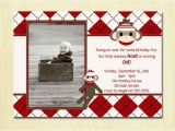 2 Year Old Boy Birthday Invitations Items Similar to sock Monkey Birthday Invitation First