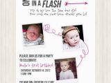 2 Year Old Boy Birthday Invitations One Year In A Flash Birthday Invitation Boy Girl Twins