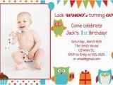 2 Year Old Boy Birthday Invitations Owl Birthday Boy Invitation First Birthday 1 2 3