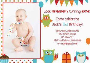 2 Year Old Boy Birthday Invitations Owl Invitation First 1 3